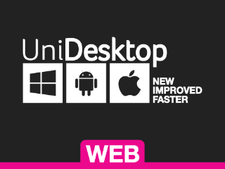 Web button for accessing UniDesktop