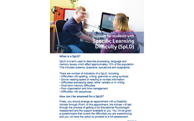 Support for students with SpLD guide